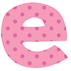 Fabric Letter e
