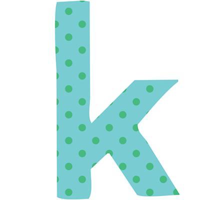 Fantabulous Fabric Letter k