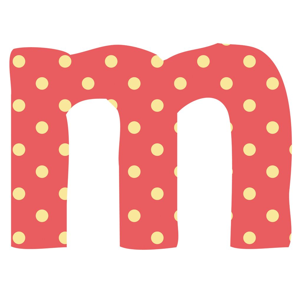 Fantabulous Fabric Letter m