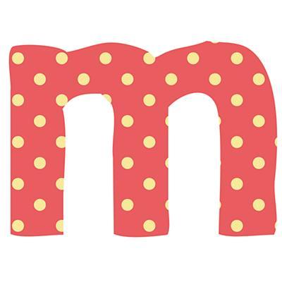 Fantabulous Fabric Letter m