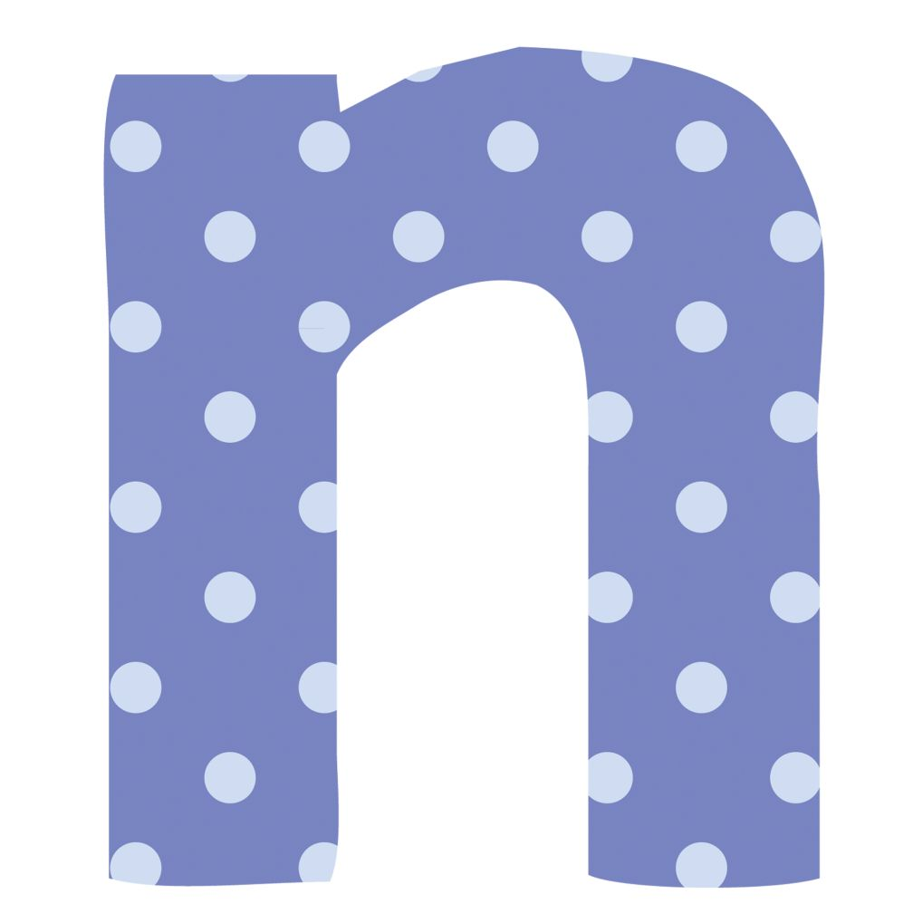 Fantabulous Fabric Letter n