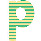 Fabric Letter p