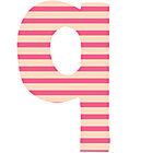 Fabric Letter q