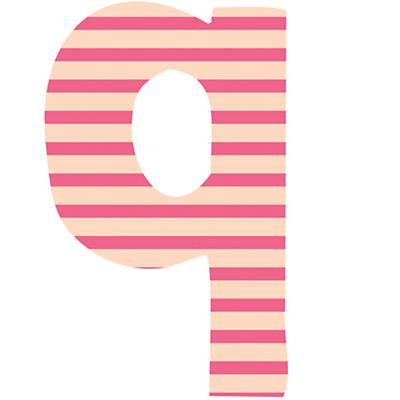 Fantabulous Fabric Letter q