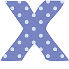 Fabric Letter x
