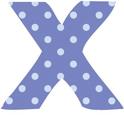 Fantabulous Fabric Letter x