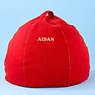 30&amp;quot; Red Personalized Beanbag Chair includes Cover and InsertFree embroidered personalization!