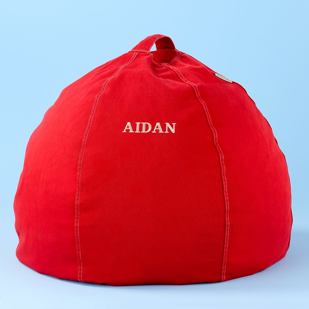 "30"" Red Personalized Beanbag Cover"