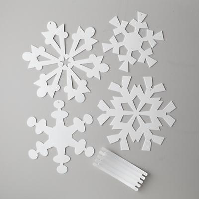 Small Hanging Snowflakes (set of 4)