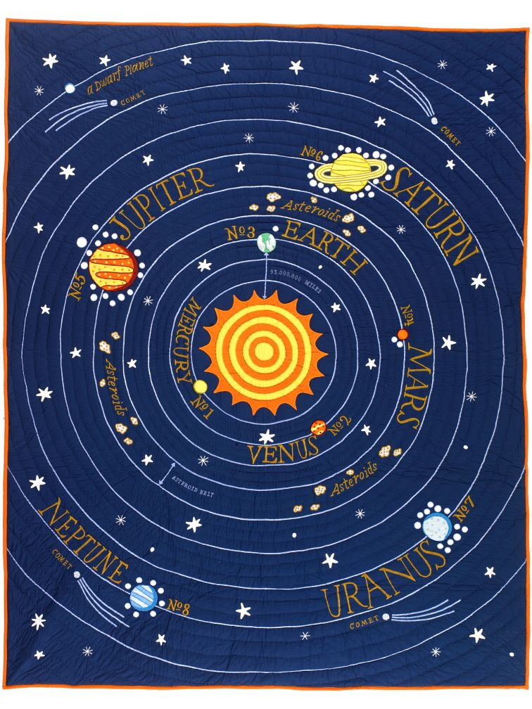 All Solar System&#39;s Go Quilt (Twin)
