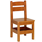 Lt. Honey Storage ChairFloor to Seat: 14&amp;quot; H