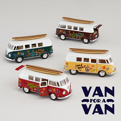 VW Bus with Surfboard